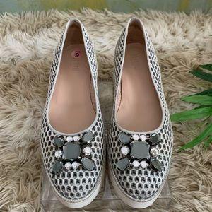 PERTINI Platform bejeweled shoes